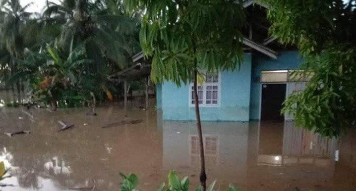 Banjir di Kabupaten Bolaang Mongondow, Sulawesi Utara, pada Rabu (22/9). FOTO: BPBD Kabupaten Bolaang Mongondow/BNPB