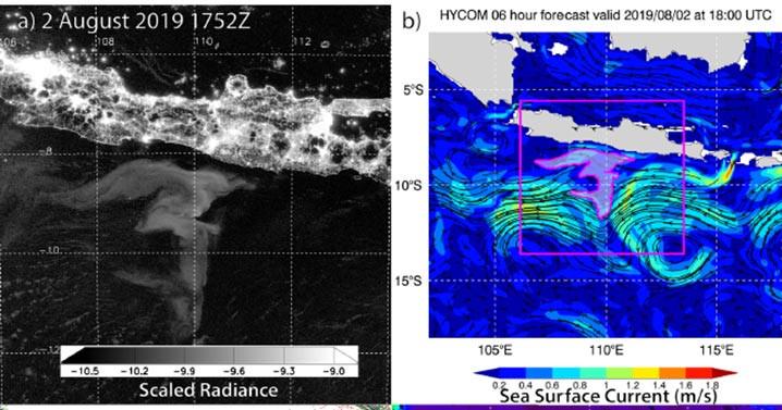 Analisis multi-parameter milky sea di Jawa pada 2 Agustus 2019. GAMBAR: MILLER DKK (2021)/NATURE.COM