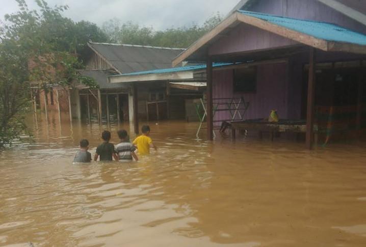 Banjir di Kabupaten Tanah Laut, Kalimantan Selatan. FOTO: BNPB