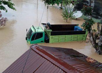 Banjir di Papua. FOTO: BNPB